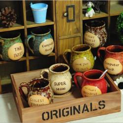 Creative Pot-bellied Ceramic Cup Nostalgic Retro Mugs Coffee Milk Cup