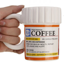 Creative Prescription Ceramic RX Drug Medicine Coffee Mug Cups