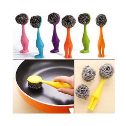 Creative Soft Rostfritt Stål Wire Ball Kök Rengöring Pot Brush