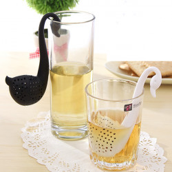 Creative Swan Shape Spoon Colander Tea Strainer Teaspoon Filter