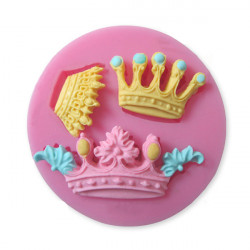 Crown Silicone Fondant Cake Mold Chocolate Sugar Craft Clay Mould
