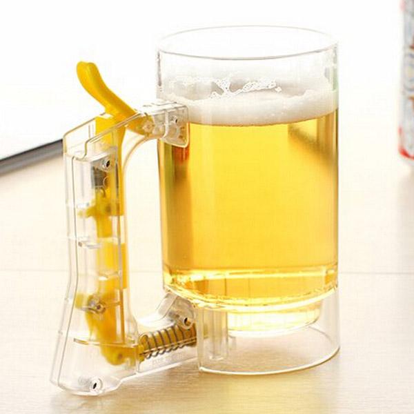 Cup Of Beer Kan Göra Öl Bubblor Kök