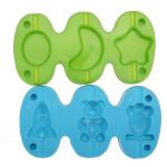 Gullig Tecknad Film DIY Cookie Utstickare Choklad Silikon Form Kök