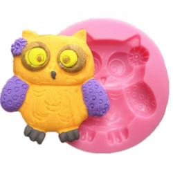 Gullig Owl Silikon Fondant Choklad Polymer Clay Form