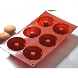 DIY 6 Silicone Kugelhopf Cake Mould Chocolate Buter Candy Mould