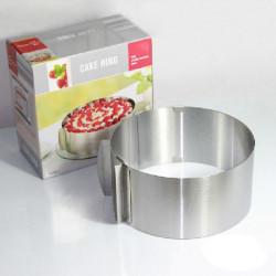 DIY Einstellbare Abgerundete Mousse Ring Retractable Kreis Ring Kuchen Form