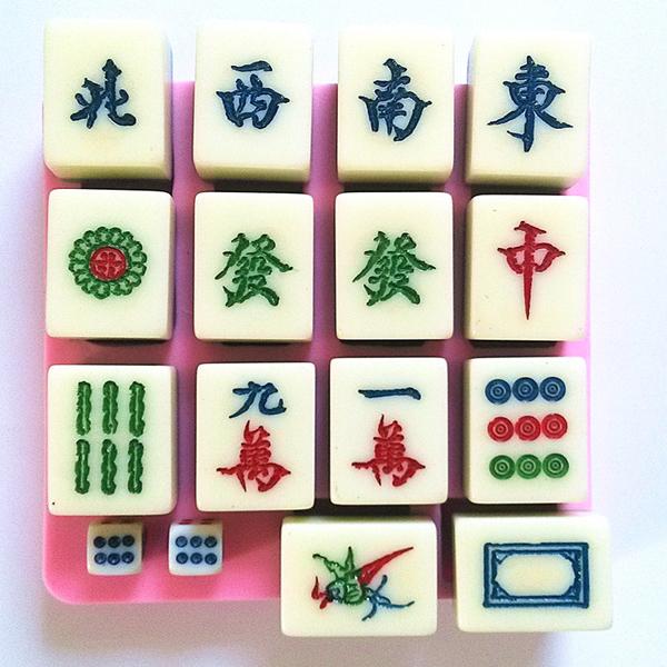 DIY Kina Vind Mahjong Chokladkaka Baking Form Sugar Cookies Heminredning Kök