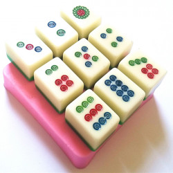 DIY Cylinder Mahjong Chocolate Cake Mold Mould Sugar Cookies Baking Tool