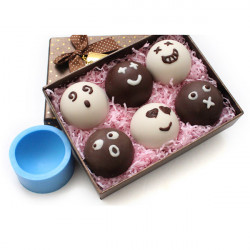 DIY Face Expressions Chocolate Fondant Soap Mold Silicone Baking Mold
