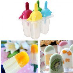 DIY Flat Popsicle Molds With Straw Ice Cream Maker