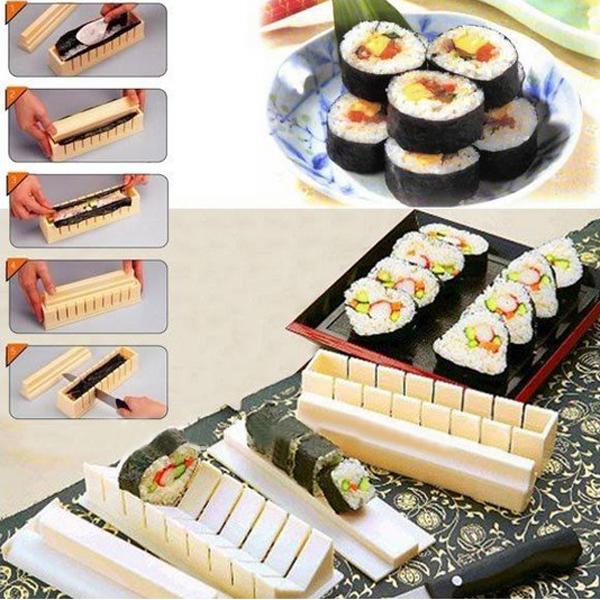DIY Küche Sushi Werkzeugbau Reis Formensatz Packung mit 11pcs Küche & Bar