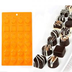DIY Kjærlig Stjerne Søt Hjerte form Sjokolade Mold Cake Mold