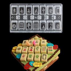 DIY Mahjong Choklad Utstickare Baking Form Mahjong 13 Unitary Utstickare