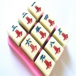 DIY Mahjong Chocolate Mould Cake Baking Mold Cake Decoration Tool