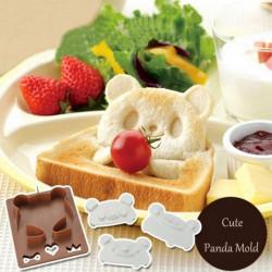 DIY Panda Shape Frog Toast Sandwich Onigiri Bread Mold Cutter