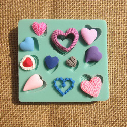 Diverse Styles Heart Shape Silicone Fondant Mold Chocolate Mould