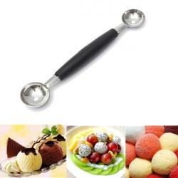 Double-end Melon Mango Fruit Spoon Ice Cream Dessert Spoon