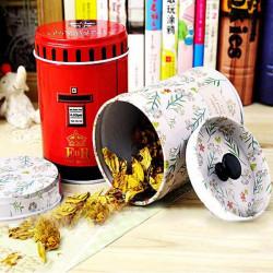 Doppel Abdeckung zylindrischen Becher Tee Kaffee Süßigkeit Speicher Zinn Kasten
