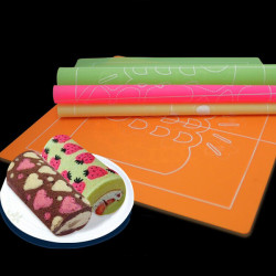 Double Sided Silicone Painting Cake Rolling Fondant Mat 4 Patterns
