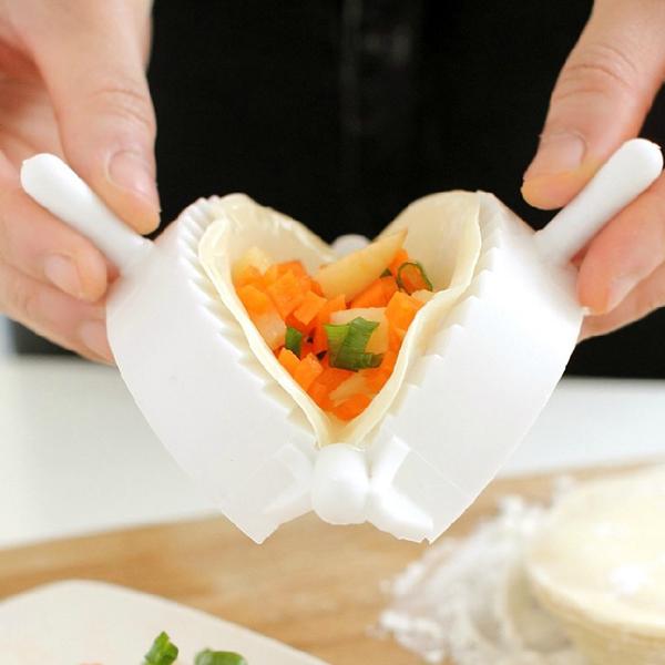Dej Press Køkken Dumpling Pie Making Værktøj Hård Plast Forme Køkken