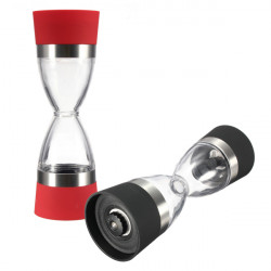Dual Grind Salt Pepper Mill Salt Grinder Glass Kitchen Gadgets