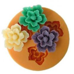 F0049 Silikon Harz Blumen Form Schokoladen Seifen handgemachte Mold