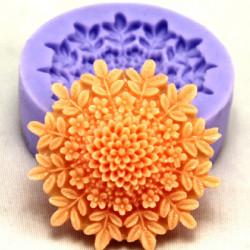 F0127 Silikone Blomst Kage Form Sæbe Chokolade Fondant Mould