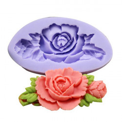 F0199 Silikone Rose Blomst Kage Form Sæbe Chokolade Resin Mould