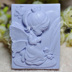 Fairy Girl Praying Silicone Soap Mold Cake Decorating Mould