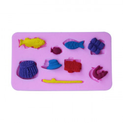 Fishing Gear Silicone Fondant Cake Mold Chocolate Polymer Clay Mould