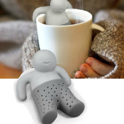 Rolig Gullig Mr.Tea Infuser Silikon Tesil Herbal Kryddor Filter