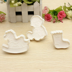 Girl Horse Sock Tårta Cookie Cutter Set Prägling Fondant Utstickare