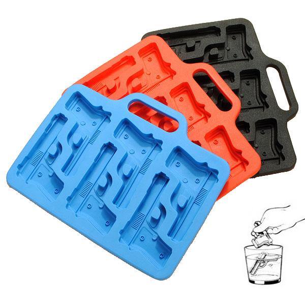 Gun Pistol Freeze Party Bar Ice Jelly Silikon Form Kök