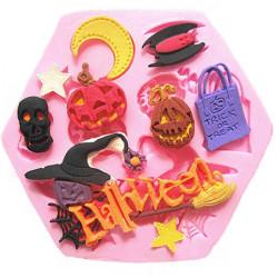 Halloween Fondant Kage Dekoration Form Silikone Kage Mould