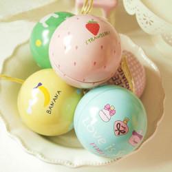 Glad Søde Ball Te Box Gift Candy Smykker Opbevaring Tin Can