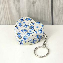 Hjerteformet Cute Iron Box Te Candy Key Kæde Opbevaringskasser