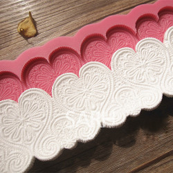 Heart Shape Silicone Fondant Lace Mold Cake Decorating Mould