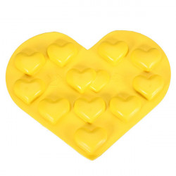 Heart Shaped Silicone Ice Cube Tray Chocolate Jelly Pudding Mold