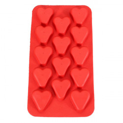Heart Shaped Silicone Ice Cube Tray Jelly Chocolate Pudding Mold