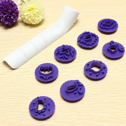 Hollow Blommor Tårta Cutters DIY Tårta Bakning Kex Verktyg