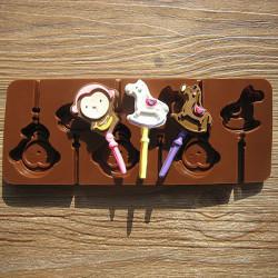 Pferd Affe Lollipop Mold Fondant Kuchen Formen Seife Schokoladen Form