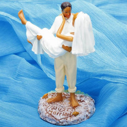 I Hold You Forever Bride And Groom Figurine Cake Topper