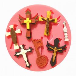 Jesus Kristus Cross Silikone Fandant Form Chokoladeform
