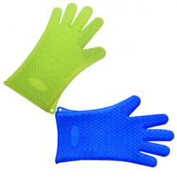Kök Bakning Matlagning Grytvante Grip Värmetålig Silikon Handskar