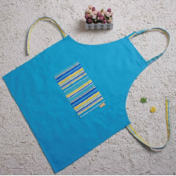 Kitchen Cooking Work Blue Aprons For Men Kids And Women