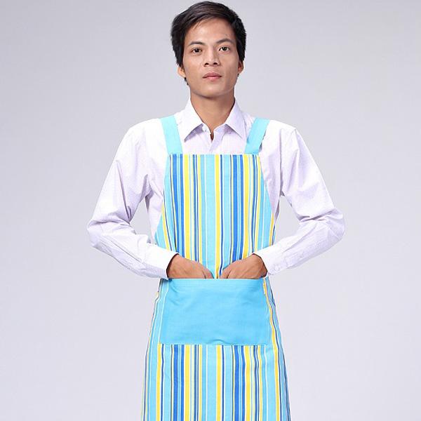 Kök Matlagning Work Blå Stripe Canvas Förkläden för Män Kök