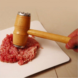 Kitchen Tool Wooden Double Side Meat Tenderizer Beef Masher Mallet Steak