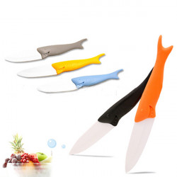 Kitchen Tools Shark Shape Ceramic Knife Fruit Knife Cutter Peeler