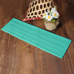 Stor Fondant Kage Udsmykning Form Lace Form Silikone Mat