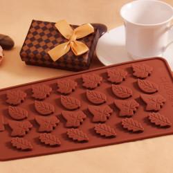 Lämnar Silikonform Fondant Kaka Dekoration Choklad Tvål Utstickare